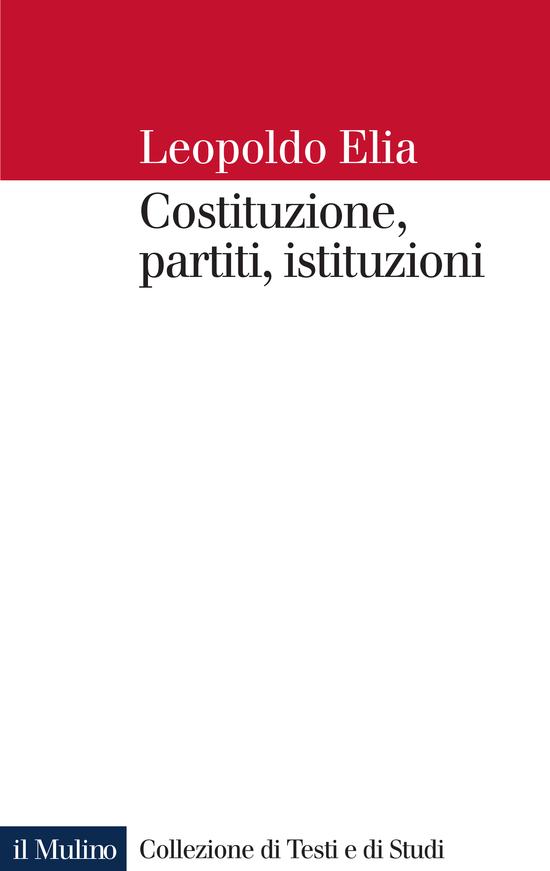 Copertina del libro Costituzione, partiti, istituzioni